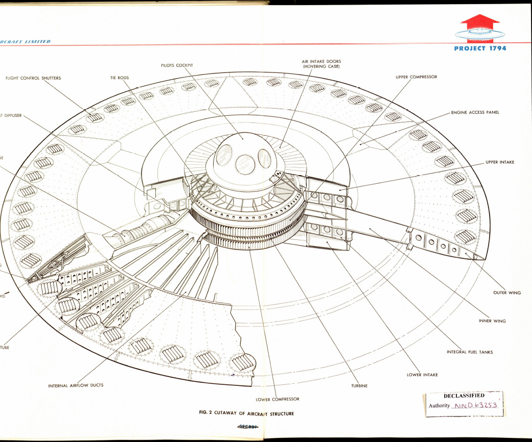 hight resolution of avro project 1794 flying saucer cutaway