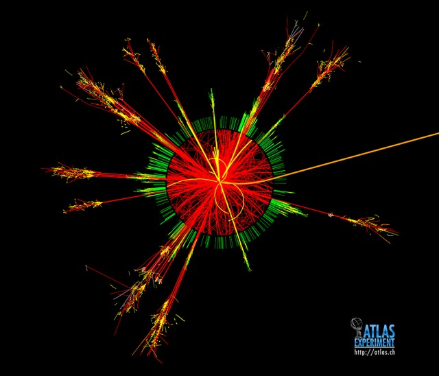 This is what the output from CERN's ATLAS experiment looks like