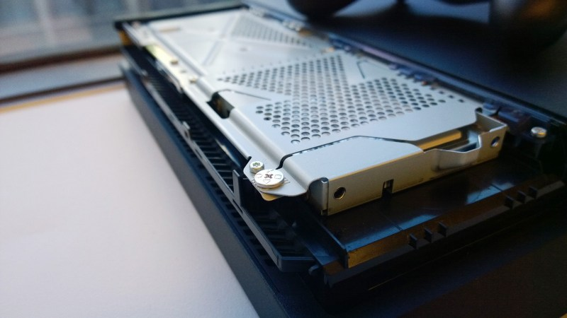 pulling out PS4 internal hard drive
