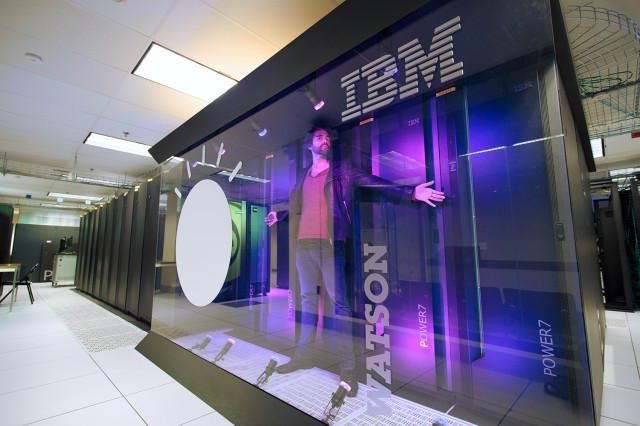 Our glorious leader, Sebastian Anthony, violating Watson at IBM Research