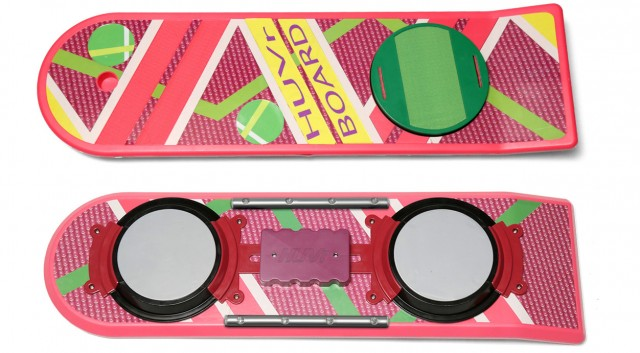 HUVr hoverboard, in classic Back to the Future pink