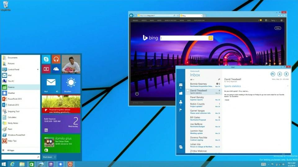Windows 8.1 start menu