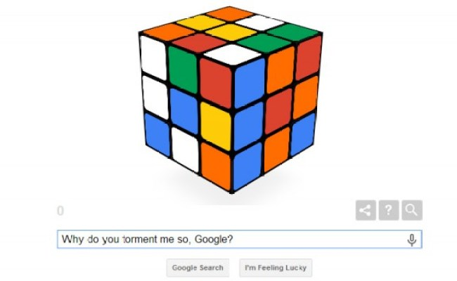 How To Solve The Google Doodle Rubik S Cube Extremetech