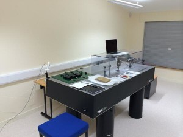 An Optalysys optical computer, on a desktop
