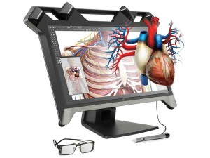 HP ZVR system using ZSpace display to create a 3D desktop virtual reality