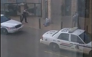 A still from a video of the aftermath of the shooting.