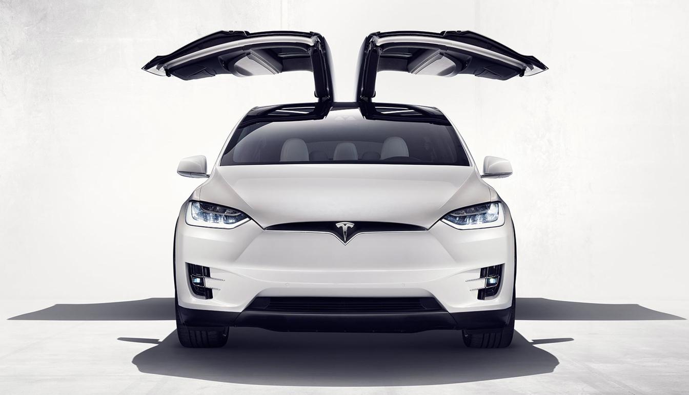TeslaX-frontal-wings-open