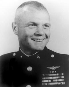 Glenn's official military portrait