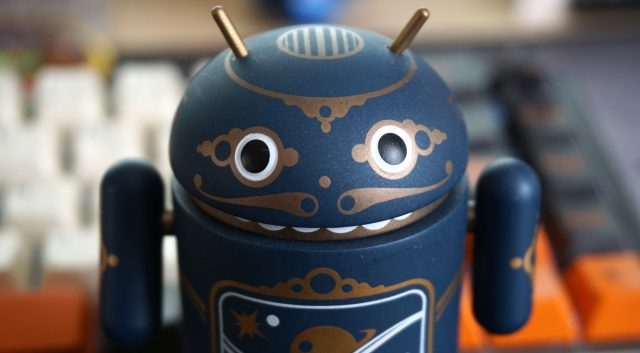 smiling android