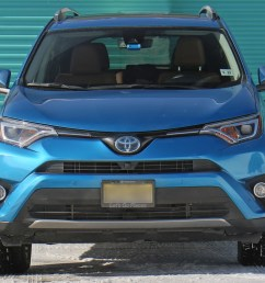 the rav4 hybrid weighs just under two tons its dimensions are mainstream for a compact suv 181 inches long 76 inches wide 67 inches high  [ 1344 x 756 Pixel ]