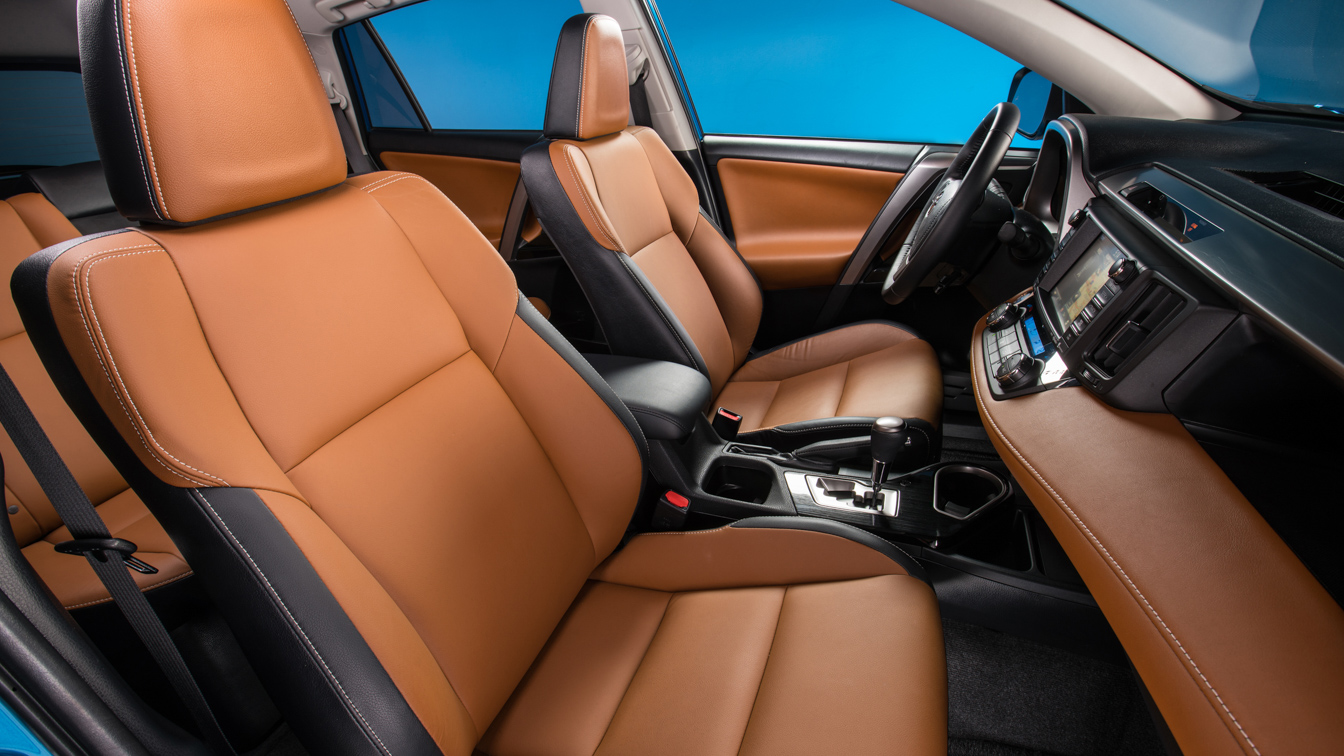 hight resolution of the 2018 toyota rav4 interior looks good in cinnamon entry models use fabric while upper models shown here use softex a vinyl leather substitute