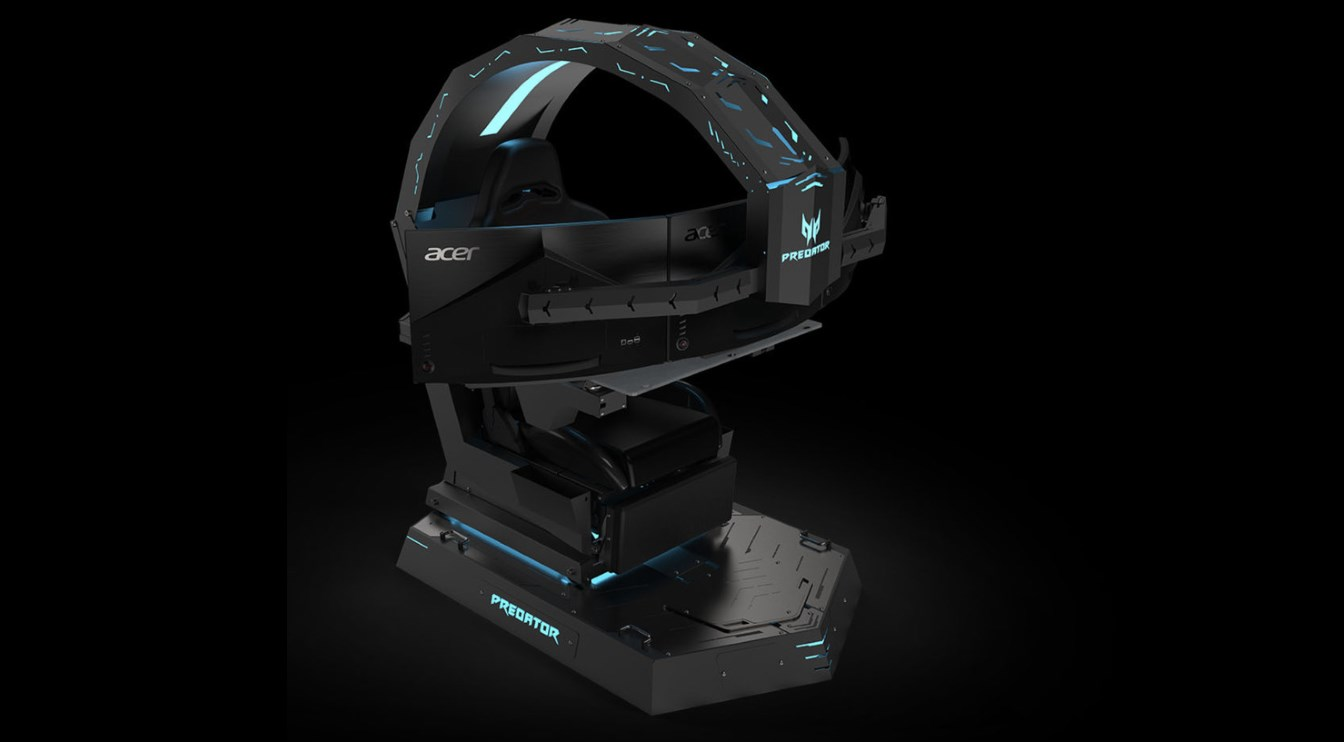 reclining gaming chair dxr acer unveils absurd, insane, predator thronos - extremetech
