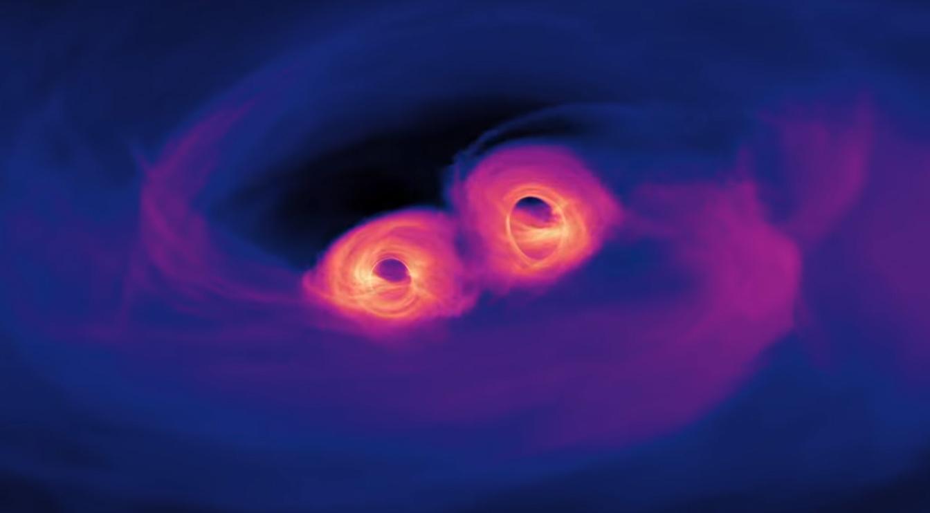 Black Hole Animated Wallpaper Nasa Simulates Two Supermassive Black Holes Spiraling
