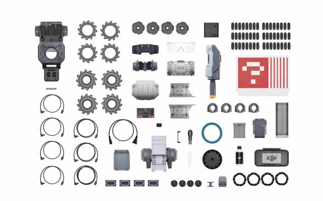 Вот компоненты для сборки RoboMaster S1