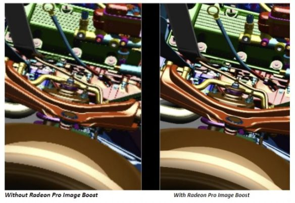 Radeon Pro Image Boost increases the apparent resolution of sub-4K displays