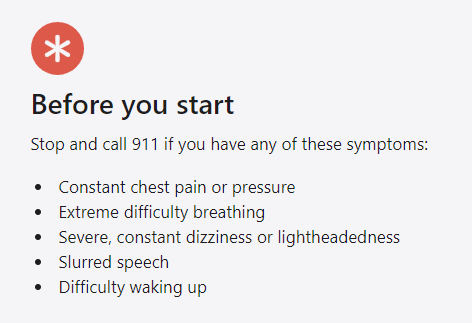 """Self-screening has limitations. For example, the site tells you to call 911 if you have """"difficulty waking up."""" For a lot of people, that's going to be a judgement call."""