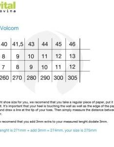 Size chart check also sandals volcom victor shop extremevital english rh
