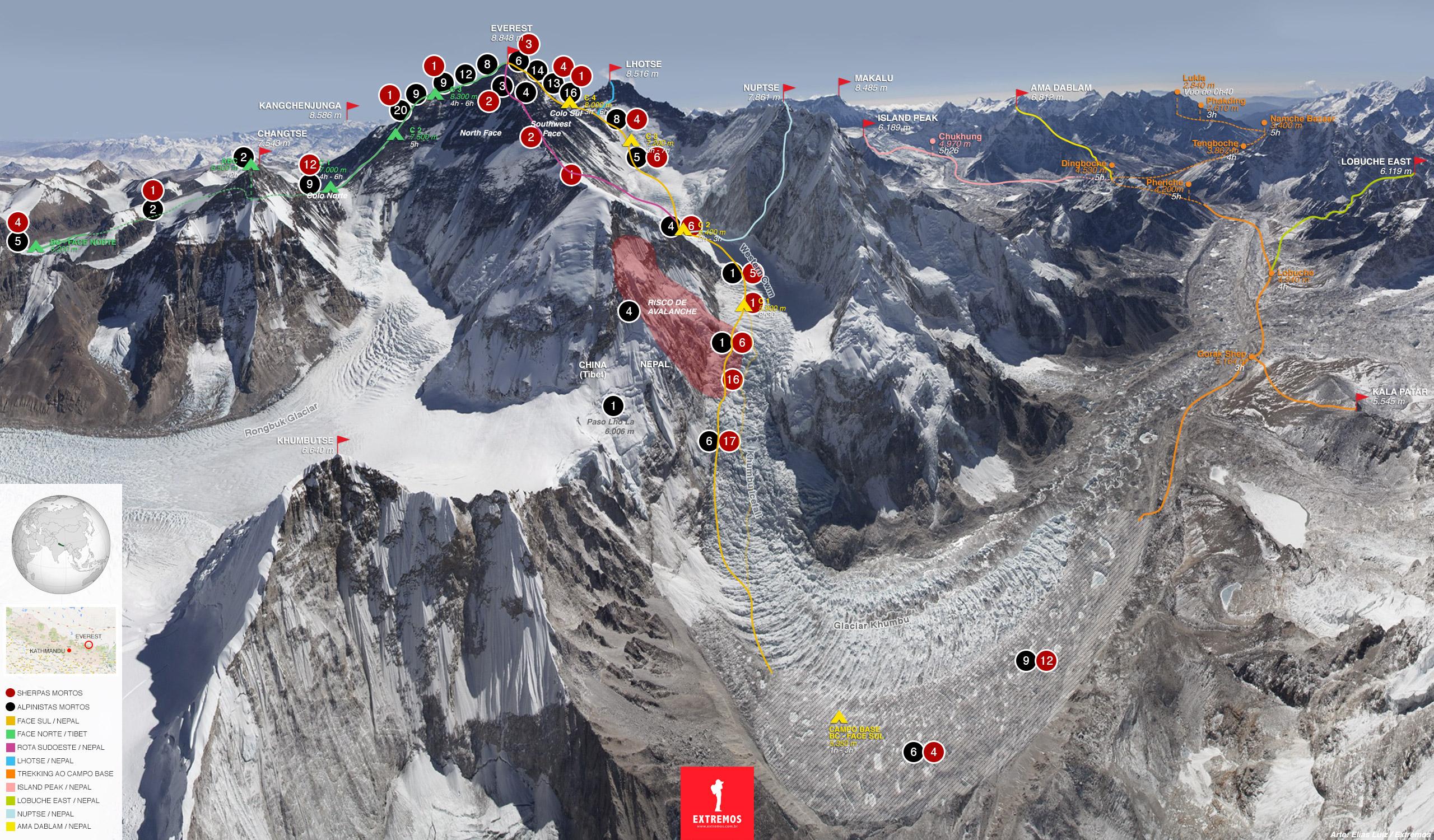 Resultado de imagem para lixo no Everest