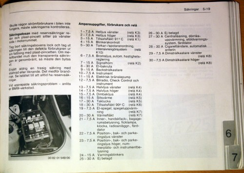 small resolution of fuses and relays 318i 320i 323i 1985
