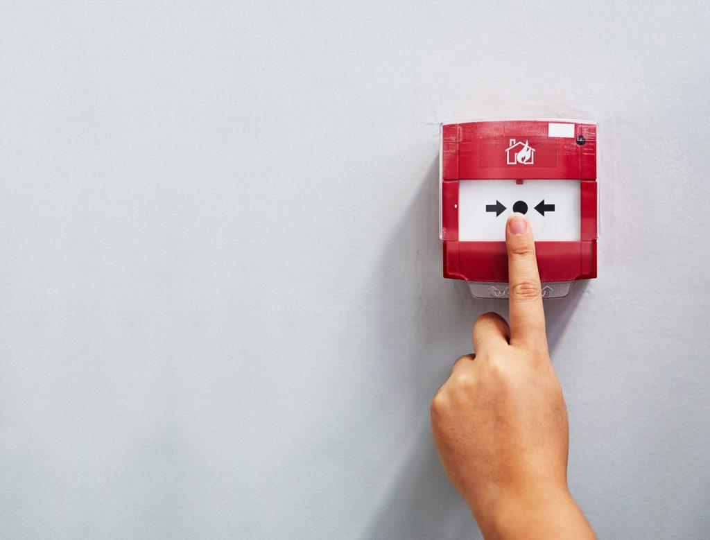 bouton alarme incendie