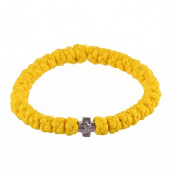 Handmade orthodox yellow prayer rope bracelet