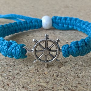 Handmade blue light rudder bracelet