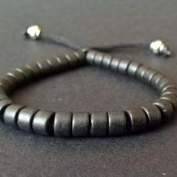 Greek (Mykonos) black ceramic bracelet