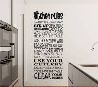 kitchen rules wall decal sticker | wall decal | wall art decal
