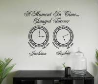 A moment in time clock wall art   Memory clocks wall art
