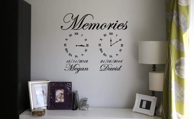 Memories Wall Art Clock Date Of Birth Clocks