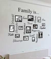 Family word quote gallery wall