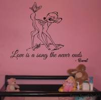 Bambi - wall art decal   wall decals   wall stickers ...
