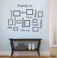 Family quote & picture frame gallery wall