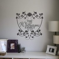 Personalised family name monogram wall decal