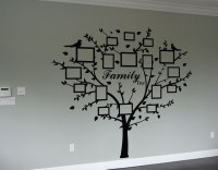 Family photo tree wall art decal | wall art decal sticker