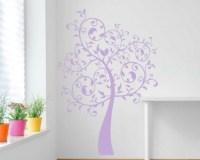 Swirl tree wall decal   Flower tree wall sticker   Flower ...