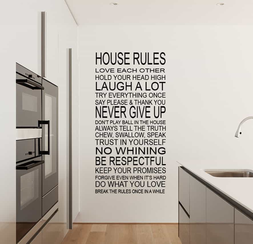 House Rules wall decal sticker by EY Decals