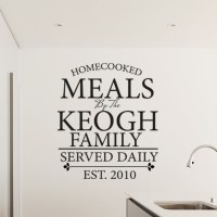 Personalised kitchen cooking memories wall decal sticker