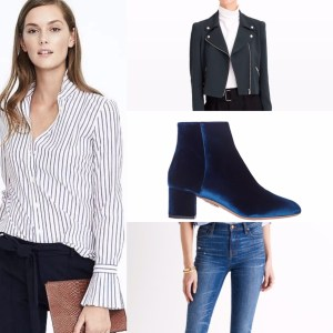 Pleated Cuff Shirt Banana Republic Leather Jacket Club Monaco Aquazurra Velvert Boots