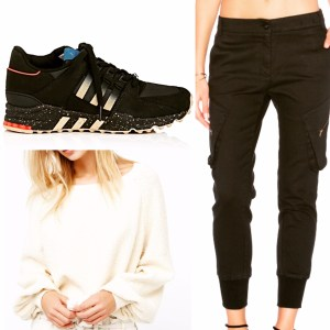 Adidas Sneakers James Jeans Cargo Pants Free People Sweatshirt