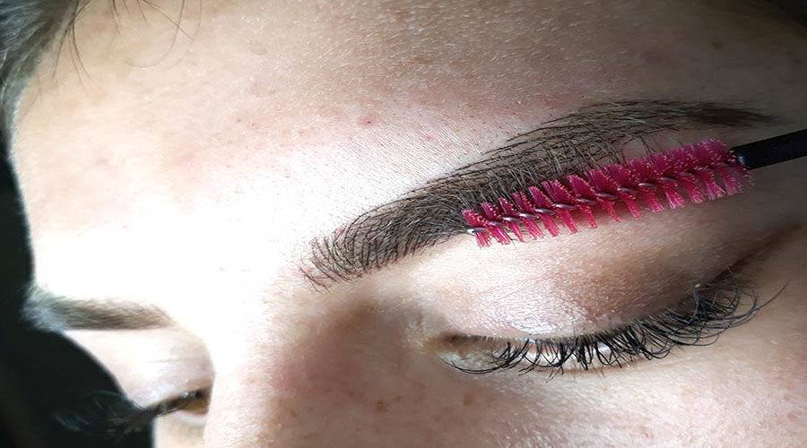 how to take care of eyebrow embroidery