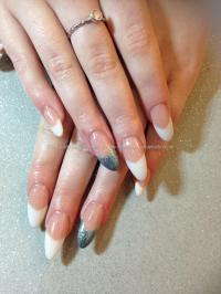Eye Candy Nails & Training - Long almond shape nails peach ...