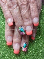 eye candy nails & training - orange