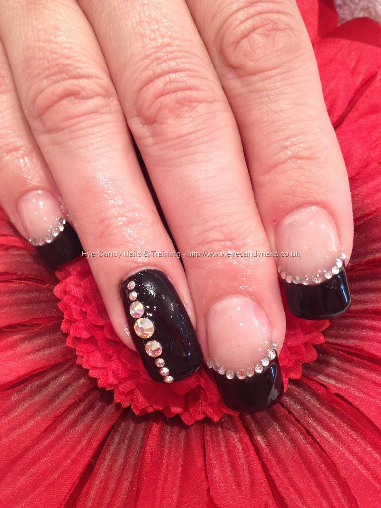 Eye Candy Nails  Training  Black gel polish with