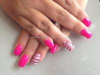 Eye Candy Nails & Training - Acrylic nails with bright ...