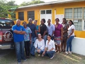 Screeners from St Lucia and Dominica trained at Eye Care St Lucia in Castries