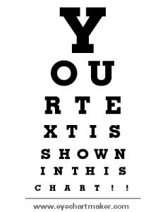 also custom eye chart maker rh eyechartmaker