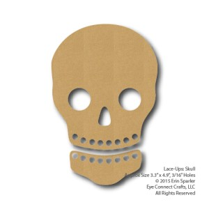With this fun and unique craft project, you can turn your Lace-Up Skull into a sugar skull, a festive Day of the Dead design or scary decor for Halloween!