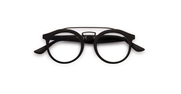 Doubleice Bridge Black reading glasses