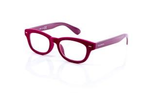 doubleice velvet purple designer italian reading glasses